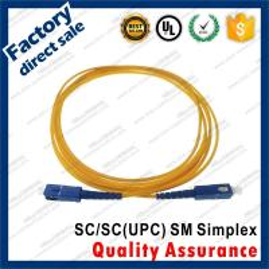 Buy cheap sc-sc/upc optic fiber patch cords sm g652d simplex yellow pvc lszh sheath jacket product