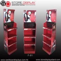 Buy cheap POP daily necessities corrugated floor display rack for shampoo product