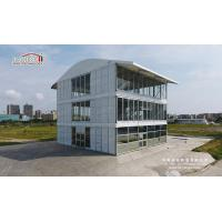 Buy cheap Three Floor Triple Decker Three Story Tent Clear Span Decoration with White PVC Fabric Roof product