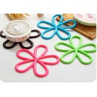 Buy cheap Flowwer Shaped Silicone Table Mat , Heat Resistant Silicone Kitchen Utensils OEM product