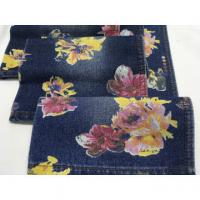 """Buy cheap High quality wholesale 62/63"""" flowers printed cotton polyester Denim fabric product"""