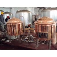 Automatic Red Copper Brewing Equipment Small Scale Brewery For Pub Draft