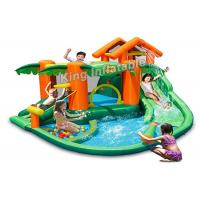 Buy cheap PVC Tarpaulin Tropical play center, jump castle, water slides for kids in summer product