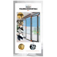 room folding door,folding grill doors,soundproof folding interior door,corner bi fold door,Folding Door Details 13
