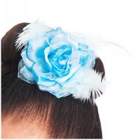 China Light Blue Artificial Flower Headpiece for Decoration Dance Wear Accessories on sale