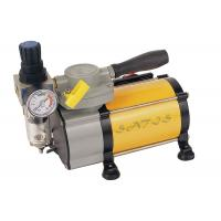 China Oil Free industrial , laboratory  Mini Air Compressor With Air Pressure Gauge for Airbrushing on sale