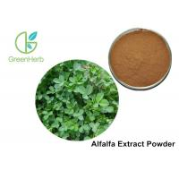 Buy cheap Food / Medical Grade Alfalfa Vegetable Extract Powder / Medicago Yellow Color product