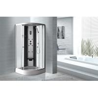 Buy cheap Matt Silver Profiles Curved Glass Shower Enclosures , Enclosed Shower Cubicles product