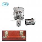 Buy cheap H057 Australia Style Metal Coffin Handles Zamak Fix bar handles product