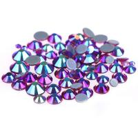Buy cheap 14 / 16 Facets Small Rhinestone Studs , Glass Material Pink Loose Rhinestones product