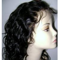Buy cheap Fashion Curly human hair full lace wig product