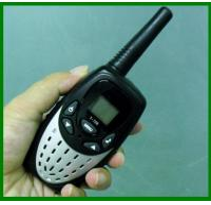 Black T728 hand free walkie talkie radio communication