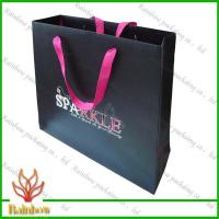 Buy cheap Customized Luxury Brown Kraft Paper Bags For Shopping With Hang Rope product