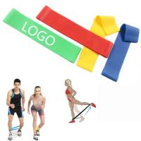 Buy cheap Elasticity Yoga Resistance Tension Fitness Latex Strip Sports Supplies Logo Customized product