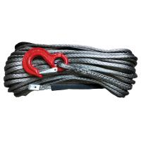 China Free Shipping 14mm x 30m synthetic Plasma UHMWPE winch line rope cable with hook on sale