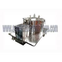 China PPTD Top Discharge Vertical Basket Centrifuge For Hemp And Alcohol Extraction on sale