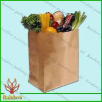 Buy cheap Brown Kraft Custom Paper Bags Recyclable Durable For Fruit product