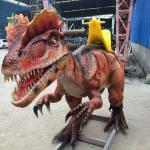 Buy cheap Life Size Amusement Park Dinosaur Ride Dilophosaurus product