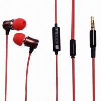 Buy cheap Wired Earphones with 20Hz to 20kHz Frequency Response, 105dB SPL, 3.5mm Stereo Plug product