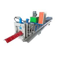 Buy cheap 10 - 15m / MinFormingSpeed Metal Roof Ridge Cap Forming Machine With Long Life product
