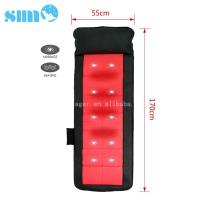 Buy cheap Black Red PU Heated Massage Mattress Safety 15mins Timer Relief Muscle Stress product