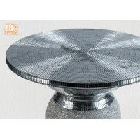 Buy cheap Lightweight Glass Fiberglass Furniture Pedestal Plant Stand Round Corner Table product