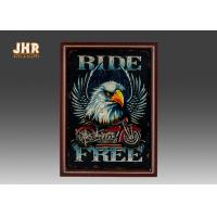 Buy cheap Resin Motorcycle Wall Decor Wooden Wall Plaques Vertical MDF Framed Wall Signs Pub Sign product
