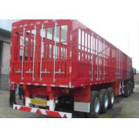 Buy cheap Double Fence Semi Trailer Truck / Long Vehicle 3 Axle Semi Trailer Color Customized product