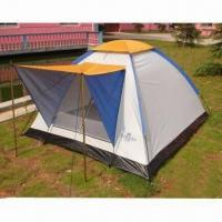 Buy cheap Outdoor Hiking/Camping Tent, Ideal for 1 to 3 Persons, with 16mm Steel Pole and 110g/PE Floor product