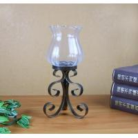 Buy cheap antique metal candle holder with glass cup without candle for home table decoration product