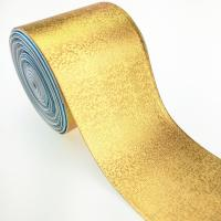 Buy cheap Factory wholesale 3 inch metallic color grosgrain ribbon full gold product