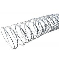 Quality High Protection Razor Barbed Tape Wire , Blade Concertina Razor Wire for sale