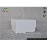 China White Simple Design Cardboard Packaging Box For Cosmetic / Gift on sale