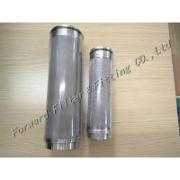 Buy cheap 2-200 Um Filter Size Industrial Filter Cartridge , Stainless Steel Filter For Industrial Process product