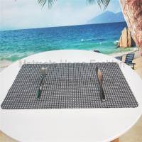 Buy cheap 100% synthetic raffia  Back microfiber,11.8*17.71 inch,Grey,green,gold,blue,Waterproof Polypropylene Plastic Placemats product