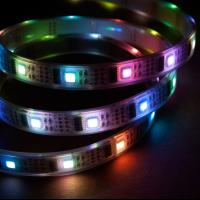 Buy cheap Waterproof IP68 12 Volt Dream-Color Flexible RGB LED Strip, Dynamic color chasing, sequencing, changing product