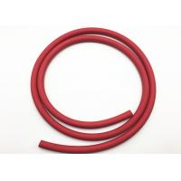 Buy cheap Red Fabric Braided Compressed Air Hose / Flexible Rubber Hose B.P 900psi product