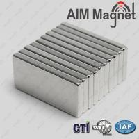 China Large Permanent Block Neodymium Magnet N48 on sale