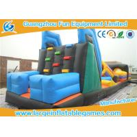 China Summer Sports Inflatable Obstacle Course For Rent , Bouncy Obstacle Course Vertical Climb With Slide on sale