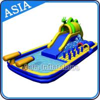 Buy cheap Outdoor  Inflatable Water Park Slide With Swimming Pool , Inflatable Aviva Water Park product