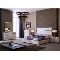 China Luxury High Gloss Bedroom Furniture / King Size Bedroom Sets Environmentally Friendly on sale