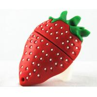 Quality customized Fruit and food design USB Flashdrives,2-32GB Soft PVC fruit shaped for sale