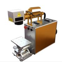 Buy cheap 100X100MM Portable Laser Engraving Machine For Stainless Steel , Laser Marking Device product