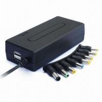Buy cheap 90W Compact Universal Notebook AC Adapter with Double USB 5V 1A product