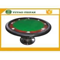 Buy cheap Classic 8 People 48'' Small Round Poker Table One Steel Leg For Poker Game product