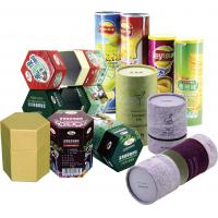 Buy cheap Cylinder Colorful Recyclable Paper Cans Packaging for Food Cosmetics and Matches product