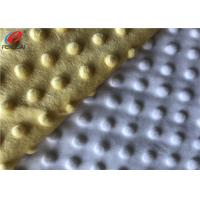 Quality 100% Polyester Minky Plush Fabric 1mm Pile Height Minky Dot Fabric For Baby Packs for sale