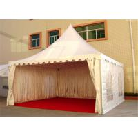Buy cheap 4M * 4M Pagoda Shape Event Tent With 80-100km/h With Wooden Floor from Wholesalers