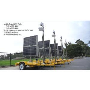 China 6m mobile solar cctv trailer system on sale