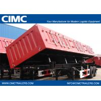 26cbm Dump Semi-trailer with 2 BPW axles and hydraulic Side Discharge system for 30 Tons  9302ZZXCF